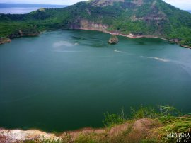 emerald waters of Taal crater