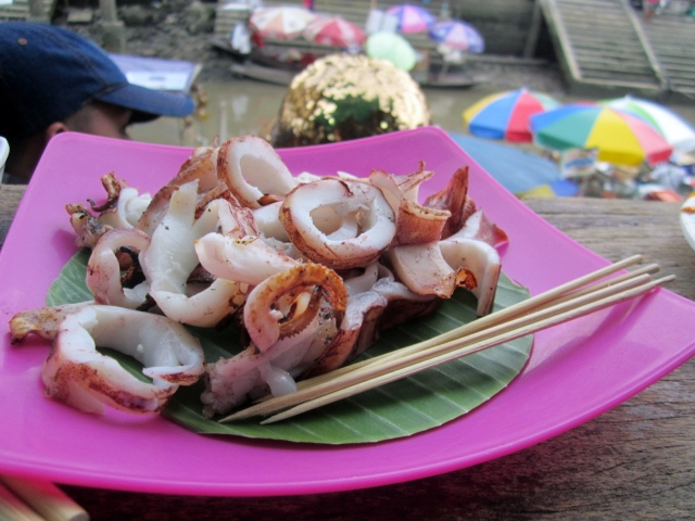 Grilled squid 120 baht