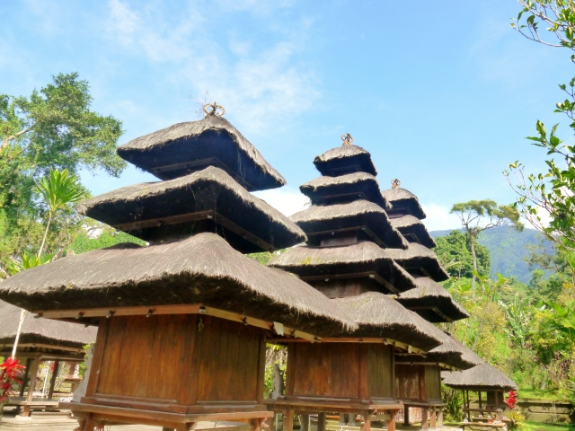 pagoda-like tiered roof temples which is distinctive for Bali temples
