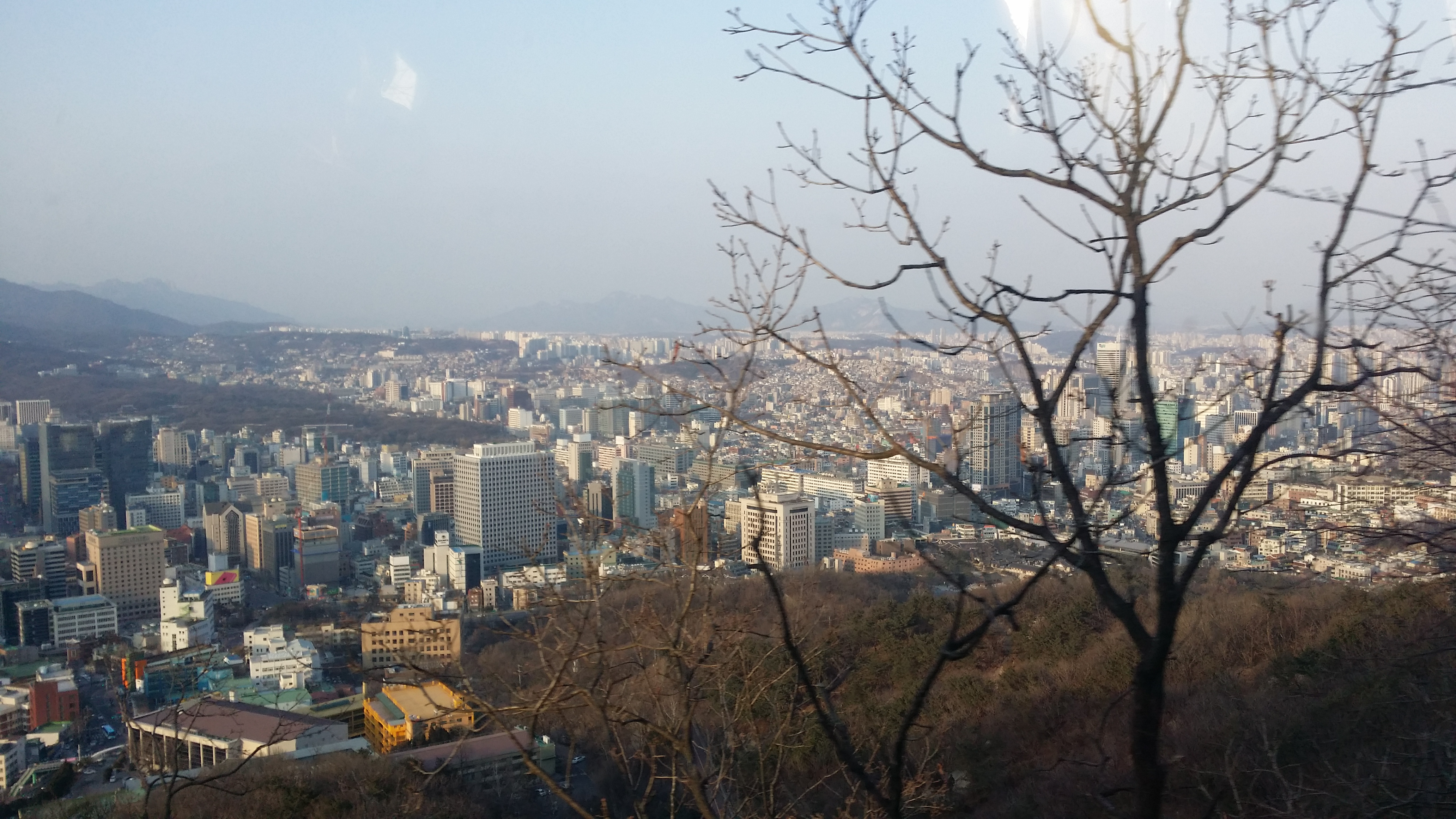 Namsan cable car - View Of Seoul From The Cable Car