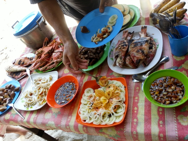 Our seafood lunch spread