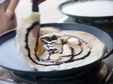 Chocolate and Banana Crepe