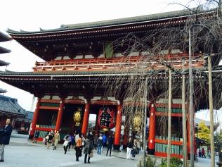Hozomon Gate (Treasure House Gate) that leads to Sensoji Temple