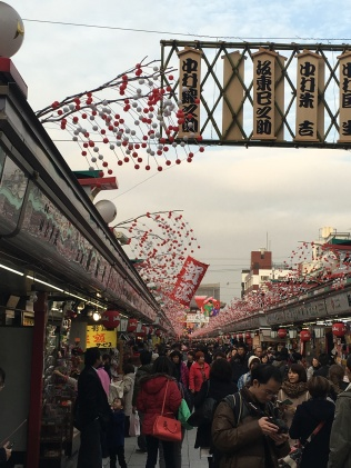Nakamise Shopping Street which leads to the Sensoji temple grounds