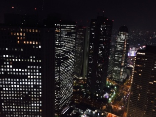 Tokyo night view from the Tokyo Metropolitan Government Building North Observatory