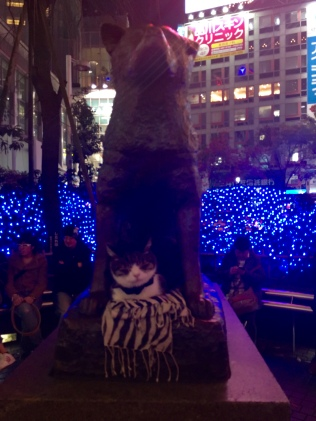 Hachiko and furry guard