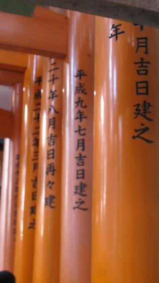 writings on the torii