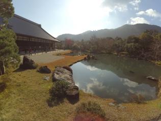 Zen garden inside the temple grounds