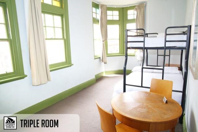 Sydney Central Inn Triple Room